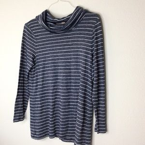 Chico's long sleeve striped blouse size 1